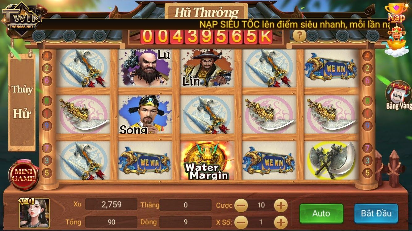 giao diện game thủy hử twin68