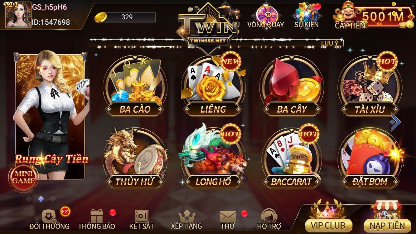Cổng game twin trong kho game twin68